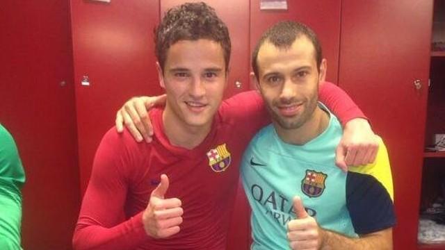 Afellay i Mascherano, després del partit contra el Màlaga / FOTO: @Mascherano