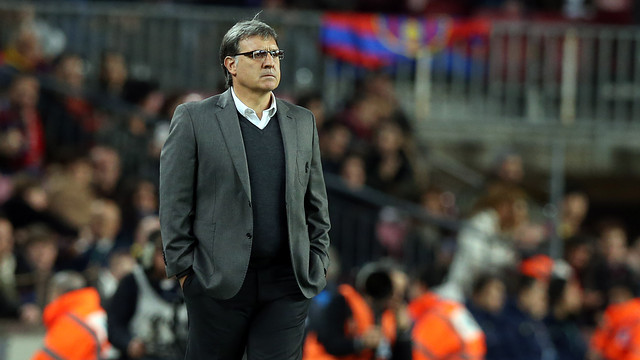 Tata Martino during the game. PHOTO: MIGUEL RUIZ - FCB
