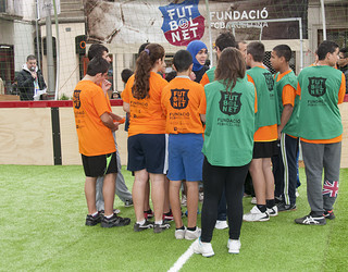 A group of FutbolNet's beneficiaries