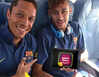 Imatge de Neymar Jr. promocionant la nova App de Seient Lliure