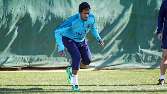 Neymar Jr, aquest divendres al matí / FOTO: MIGUEL RUIZ-FCB