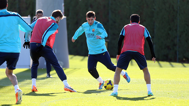 Messi, en un entrenament.