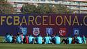 Tata Martino xerrant amb els seus jugadors / FOTO: MIGUEL RUIZ - FCB