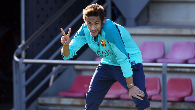 Neymar in training this Tuesday / PHOTO: MIGUEL RUIZ - FCB