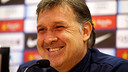 Gerardo Martino in the press conference / PHOTO: MIGUEL RUIZ-FCB