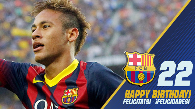 Neymar Jr. turns 22 years old