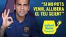 Campanya Seient Lliure amb Alves fent símbol OK