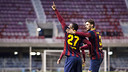 Adama, after scoring against Hercules / PHOTO: VÍCTOR SALGADO-FCB