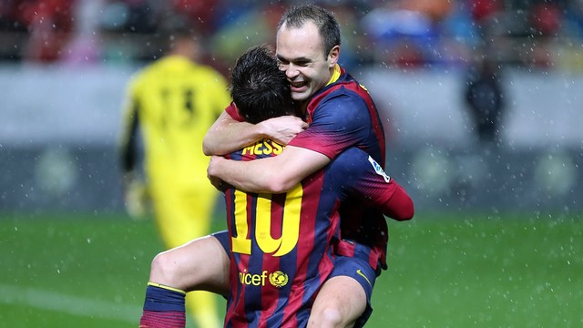 Messi and Iniesta