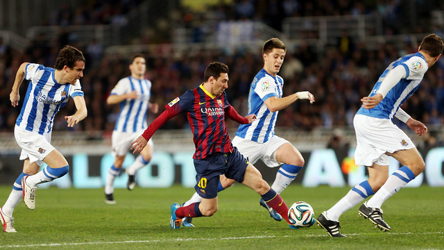 Barça drew 1-1 at Real in the 2013/14 cup semi final / FCB