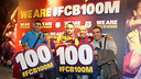 Fans celebrating at the FCBotiga with #FCB100M / PHOTO: MIGUEL RUIZ - FCB.