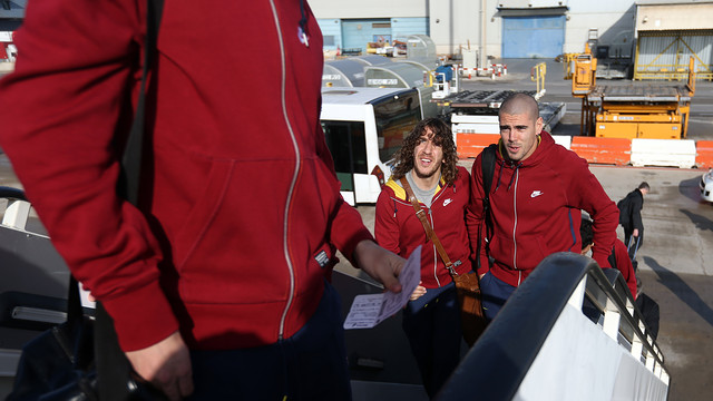 The team left for Manchester on Monday morning. PHOTO: MIGUEL RUIZ-FCB.