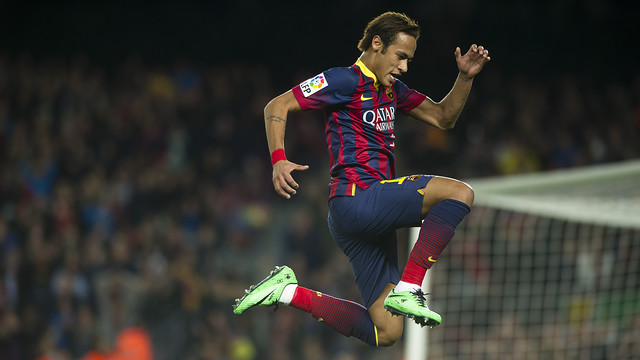 Neymar featured against Rayo on Saturday evening. PHOTO: VÍCTOR SALGADO-FCB.