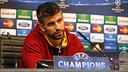 Gerard Piqué ha atès els mitjans de comunicació a la sala de premsa de l'Etihad Stadium / FOTO: MIGUEL RUIZ - FCB