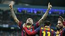 Alves, à Manchester / Photo Miguel Ruiz