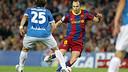 Iniesta beats Bernardello in the match played in the 10/11 season / PHOTO: MIGUEL RUÍZ – FCB