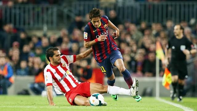 Neymar, pendant le match / Photo Miguel Ruiz