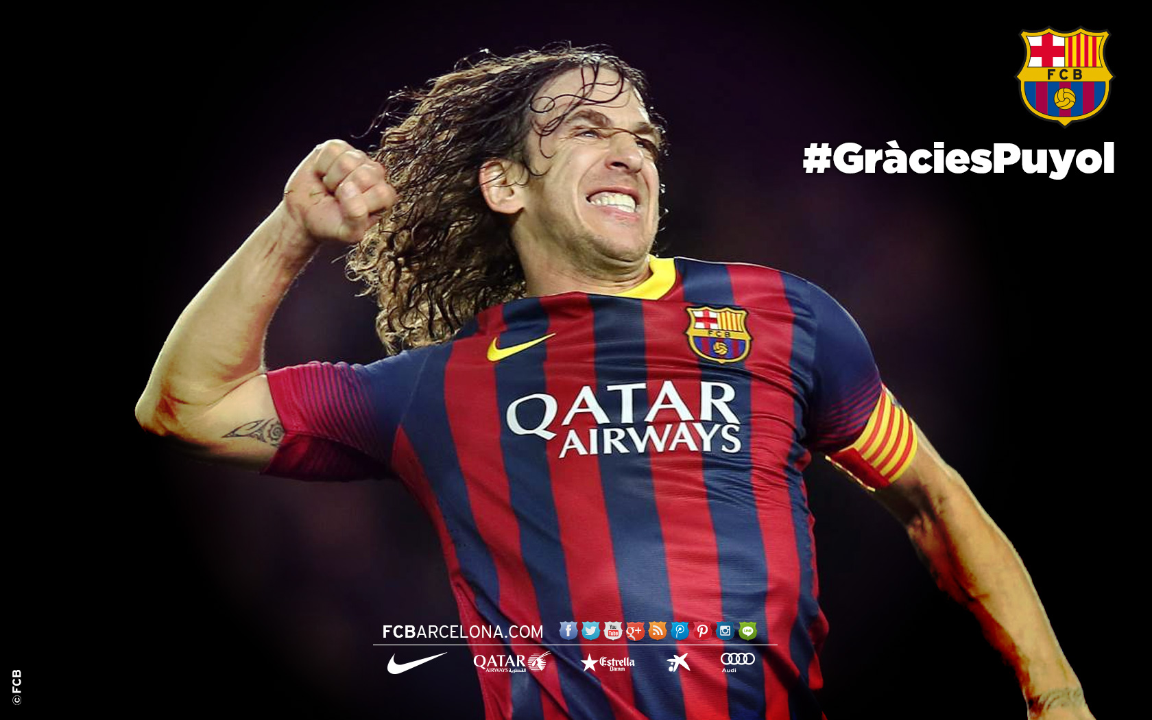 Five Carles Puyol wallpapers for your puter FC Barcelona