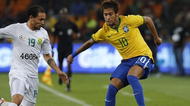 Neymar during the game against South Africa / PHOTO: FIFA.COM