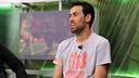 Sergio Busquets on Barça TV's  'El Marcador' / PHOTO: MIGUEL RUIZ - FCB