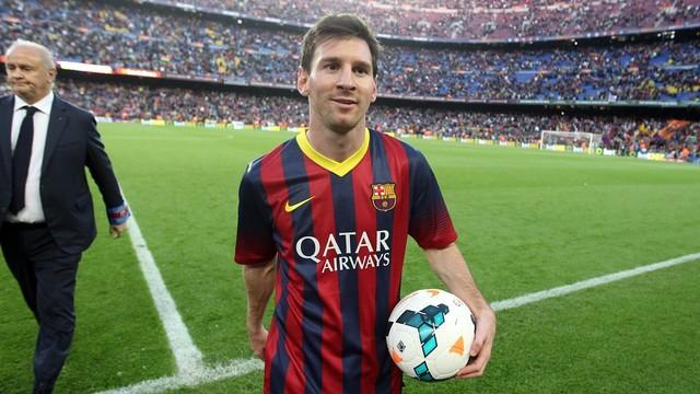Hat-trick de Messi contra Osasuna. FOTO: MIGUEL RUIZ-FCB.