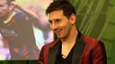 Leo Messi on the set of El Marcador / PHOTO: MIGUEL RUIZ-FCB.