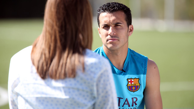 Pedro Rodríguez in an exclusive interview for Barça TV and the Club website / PHOTO: MIGUEL RUIZ - FCB