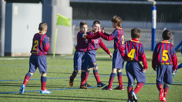 Benjamin A celebrating a goal/ PHOTO: ARXIU FCB