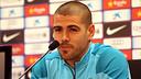 Víctor Valdés gave a press conference on Friday / PHOTO: MIGUEL RUIZ - FCB
