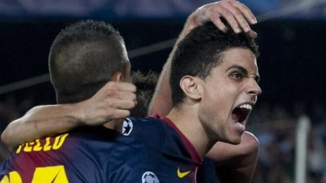 Imatge de Marc Bartra celebrant un gol