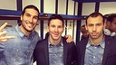 Pinto, Messi i Mascherano, després de la victòria contra el Madrid / FOTO: 13pinto