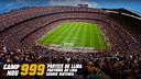 999 partits de Lliga al Camp Nou