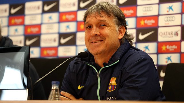 Tata Martino discussed several issues at the Ciutat Esportiva / PHOTO: MIGUEL RUIZ - FCB