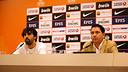 Sada y Pascual, durante la rueda de prensa. FOTO: MIGUEL RUIZ - FCB