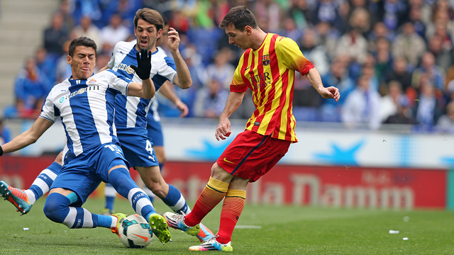 Messi during the game / PHOTO: MIGUEL RUIZ - FCB