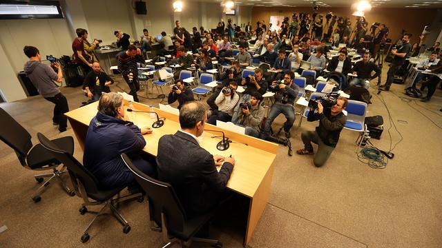 Tata Martino speaking at the press conference/ PHOTO: MIGUEL RUIZ - FCB