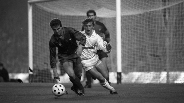 Robert Fernández and Emilio Butragueño were playing on the day of the 0-0 in 1989 / PHOTO: FCB ARCHIVE