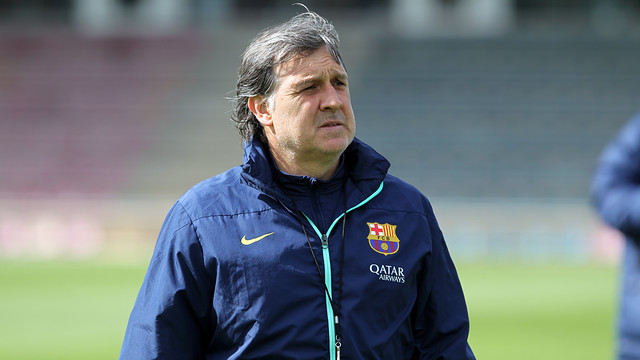 Gerardo Martino, at training/ PHOTO: MIGUEL RUIZ-FCB