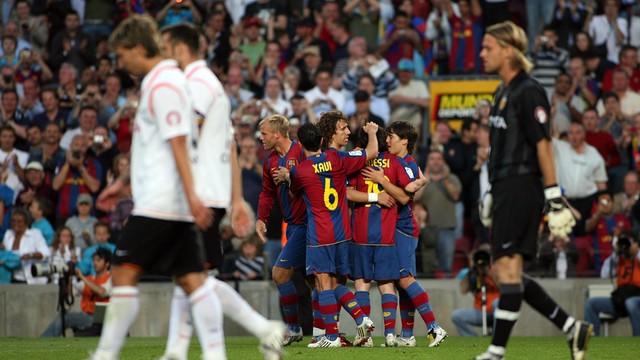 El València va endur-se un 6-0 pocs dies després de la semifinal de Champions del 2008 / FOTO: MIGUEL RUIZ-FCB