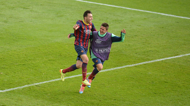Munir scored against  Schalke 04 / PHOTO: FCB