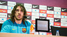 Carles Puyol at today's press conference