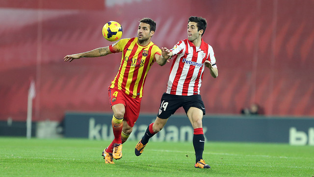 Susaeta and Cesc featured in the game between the two sides at the Camp Nou / PHOTO: MIGUEL RUIZ-FCB