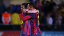 Messi and Adriano/ PHOTO: MIGUEL RUIZ-FCB