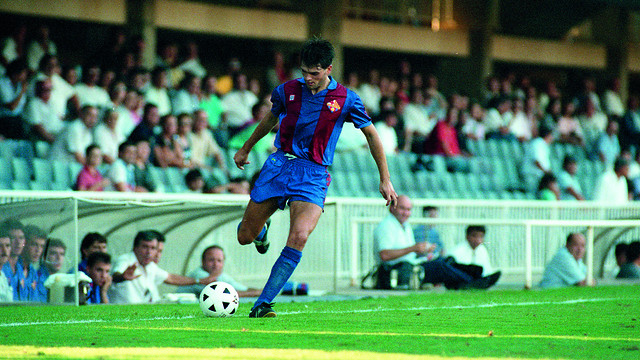 Tito Vilanova, in a game at the Miniestadi / PHOTO: ARXIU FCB