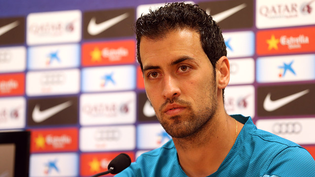 Sergio Busquets spoke to the press on Thursday / PHOTO: MIGUEL RUIZ - FCB