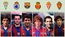 Ferrer, Barjuan, Sacristan, Carreras, Abelardo and Víctor Muñoz