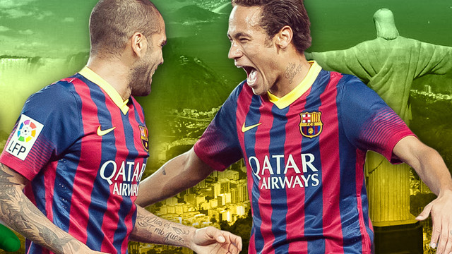 Alves and Neymar are off to the 2014 World Cup