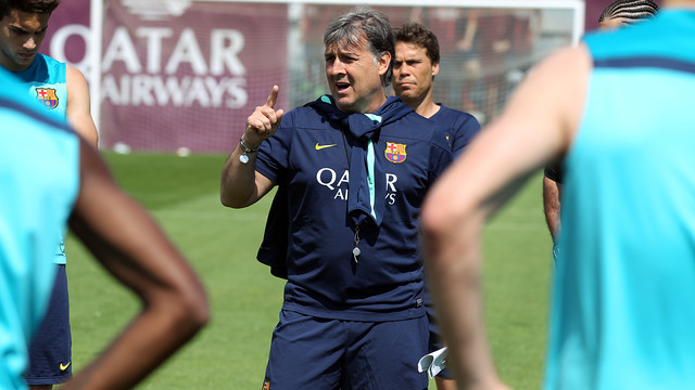 Martino took charge of training and spoke to the press afterwards / PHOTO: MIGUEL RUIZ-FCB