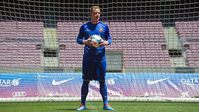 Ter Stegen trod the Camp Nou turf for the first time today. PHOTO: MIGUEL RUIZ-FCB.