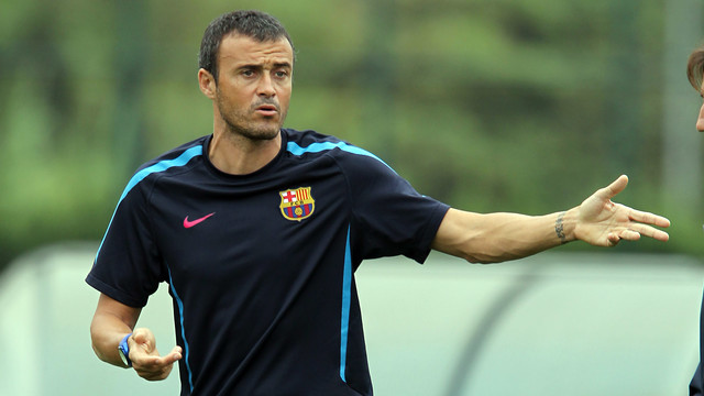 Luis Enrique during his time in charge of Barça B. PHOTO: MIGUEL RUIZ-FCB.